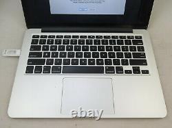 2013 13 Apple Macbook Pro I7 2.8ghz 16gb 512gb As Is Crack Screen Parts Repair