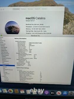 2019 16 MacBook Pro 2.3GHz i9 8-Core 32GB RAM 1TB 5500M 8GB AppleCare+