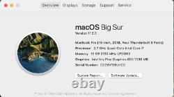 Apple 2018 13 MacBook Pro TB 2.7GHz i7 16GB 1TB, Brand New screen, AppleCare+