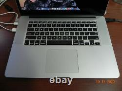 Apple MacBook Pro 15.4 i7 Quad core @2.8GHZ 16 GB RAM Mid 2014 Cracked Screen
