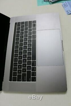 Apple Macbook Pro 15 2017 Shell with topcase, keyboard, screen, battery, READ