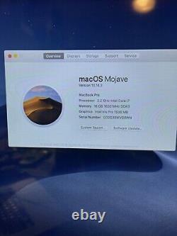 Apple Macbook Pro 15-inch Mid-2015 A1398 i7 2.2GHz 16GB 256GB Broken Screen -