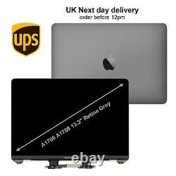Grey Apple MacBook Pro 13 A1706 A1708 2016 2017 Retina LCD Screen Replacement