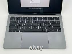 MacBook Pro 13 Space Gray 2017 MPXQ2LL/A 2.3GHz i5 8GB 256GB SSD Cracked Screen