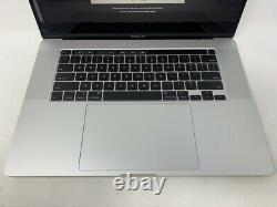MacBook Pro 16-inch Silver 2019 2.6GHz i7 16GB 512GB SSD Cracked Screen READ