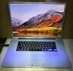 MacBook Pro 17 early 2011, 2.3 ghz core i7 8gb ram 500 gb hd matte screen