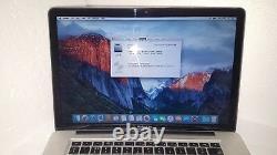 Macbook Pro A1286 15.4 Screen 8gb Memory 500gb Hard Drive El Capitan