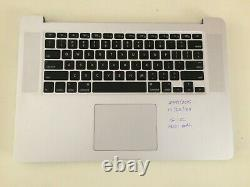 Macbook Pro Retina 15 A1398 2015 i7-2.2GHz 16GB NOScreen/SSD/Charger READ