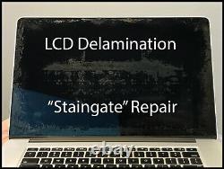 Macbook Pro Retina A1398 15 Late 2013 Screen LCD Delamination Antiglare Repair