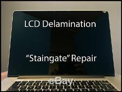 Macbook Pro Retina A1398 15 MID 2014 Screen LCD Delamination Antiglare Repair